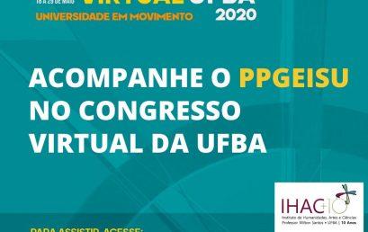 PPGEISU no Congresso Virtual da UFBA