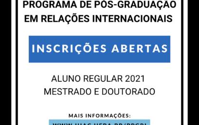 PPGRI publica Edital de Seleção para Aluno Regular 2021 – Mestrado e Doutorado