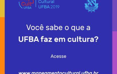 """Pesquisa """"Mapeamento Cultural da UFBA"""" é disponibilizada em site"""