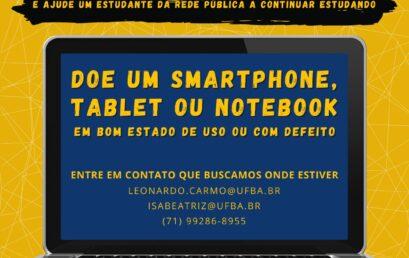 """PET IHAC lança campanha """"Doe seu dispositivo móvel – ajude um estudante da rede pública a continuar estudando"""""""