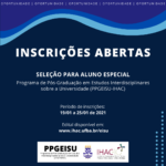 Programa de Pós-Graduação em Estudos Interdisciplinares sobre a Universidade (PPGEISU) abre inscrições para Aluno Especial