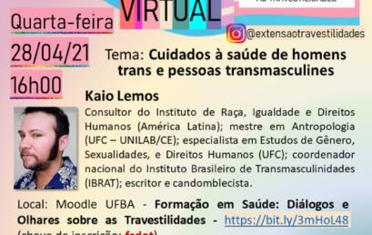 Encontro Virtual discute cuidados à saúde de homens trans e pessoas transmasculines