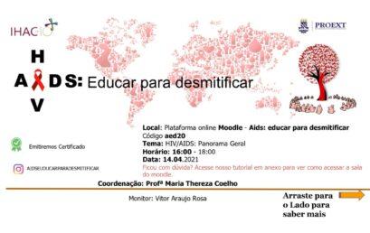 """Próxima edição do projeto de extensão """"HIV/AIDS: educar para desmitificar"""" acontece em abril"""