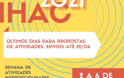 Últimos dias para envios de propostas de atividades para EXPO IHAC 2021