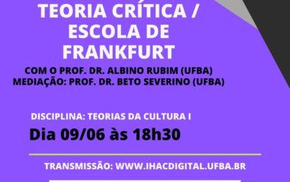 Aula aberta do Pós-Cultura traz discussão sobre Teoria Crítica/Escola de Frankfurt