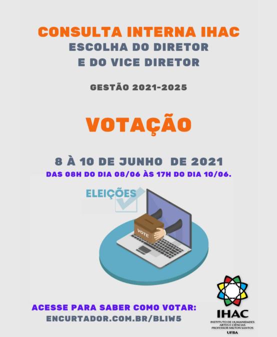 Direção IHAC (2021-2025): Votação acontece nos dias 08, 09 e 10 de junho