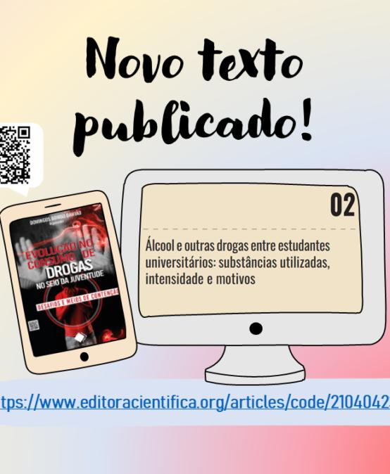 Docente, egressos e discentes publicam artigo sobre uso de álcool e outras drogas entre estudantes universitários