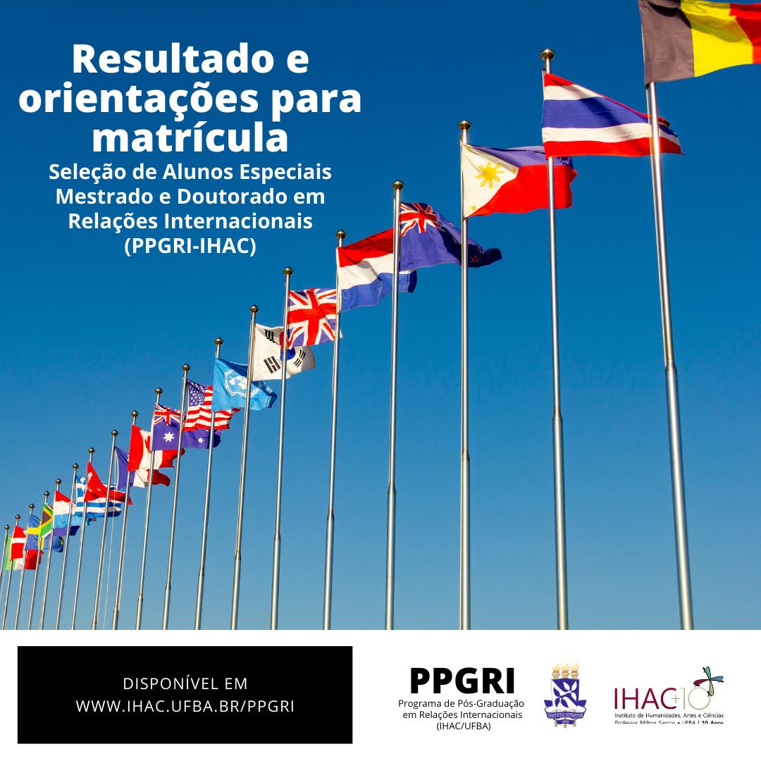 PPGRI divulga resultado da seleção de alunos especiais de 2021.2