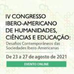 Egressa e docente do PPGEISU apresentam artigo no IV Congresso Ibero-Americano de Humanidades, Ciências e Educação