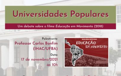 PPGEISU promove debate sobre Universidades Populares no IHAC Digital